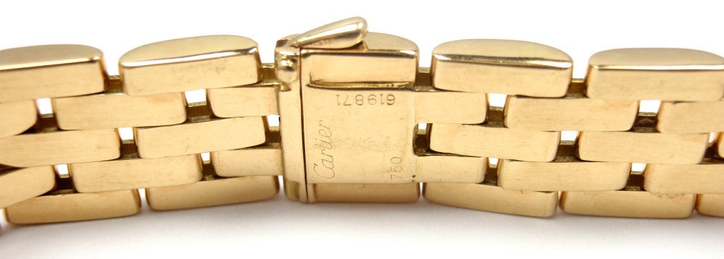 CARTIER MAILLON PANTHÈRE 5 Row Yellow Gold Link Necklace - 1980 4