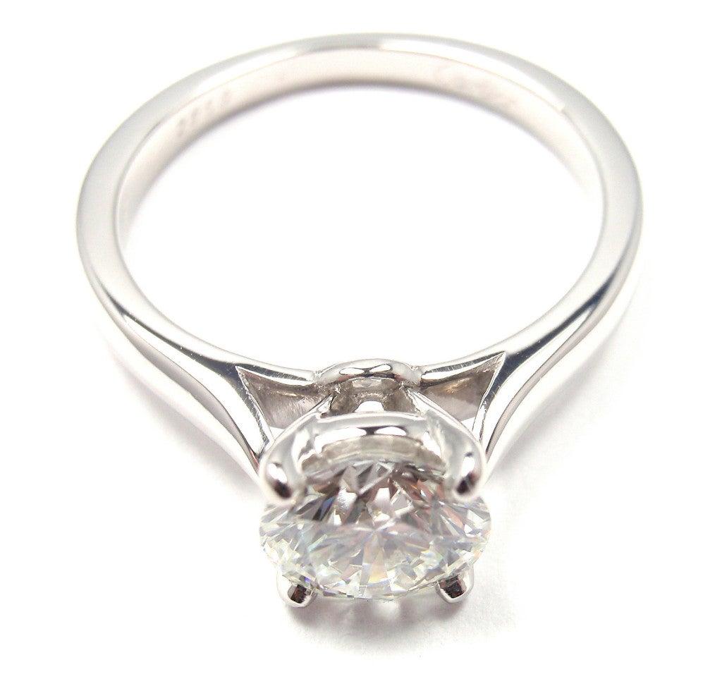 cartier 1 04ct platinum solitaire engagement ring