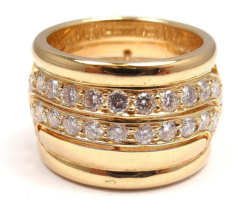 CARTIER  Diamond Yellow Gold Ring 2