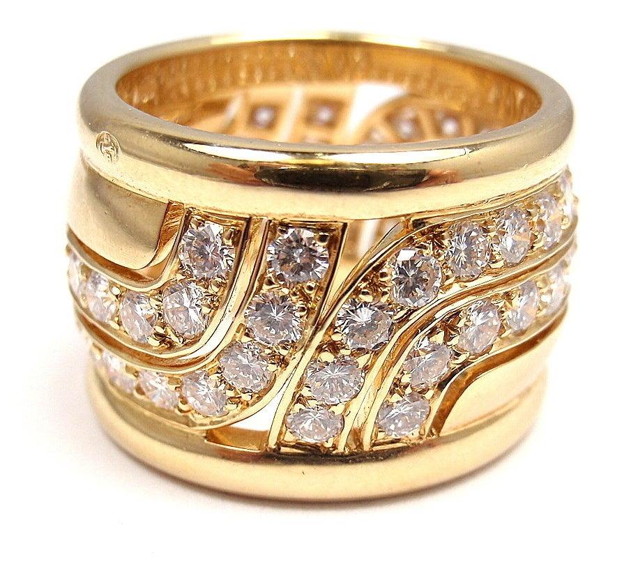 CARTIER  Diamond Yellow Gold Ring 3