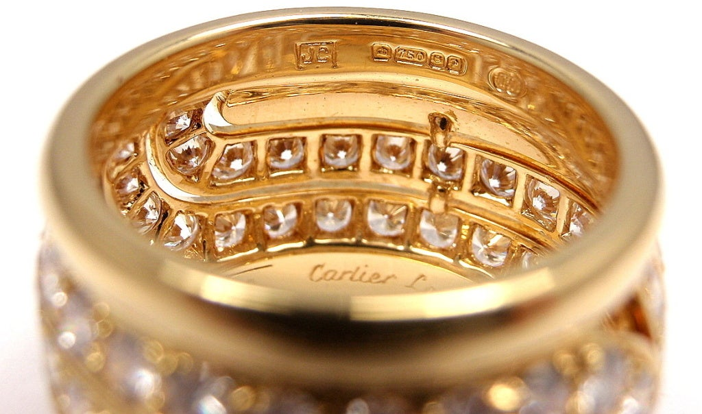 CARTIER  Diamond Yellow Gold Ring 4