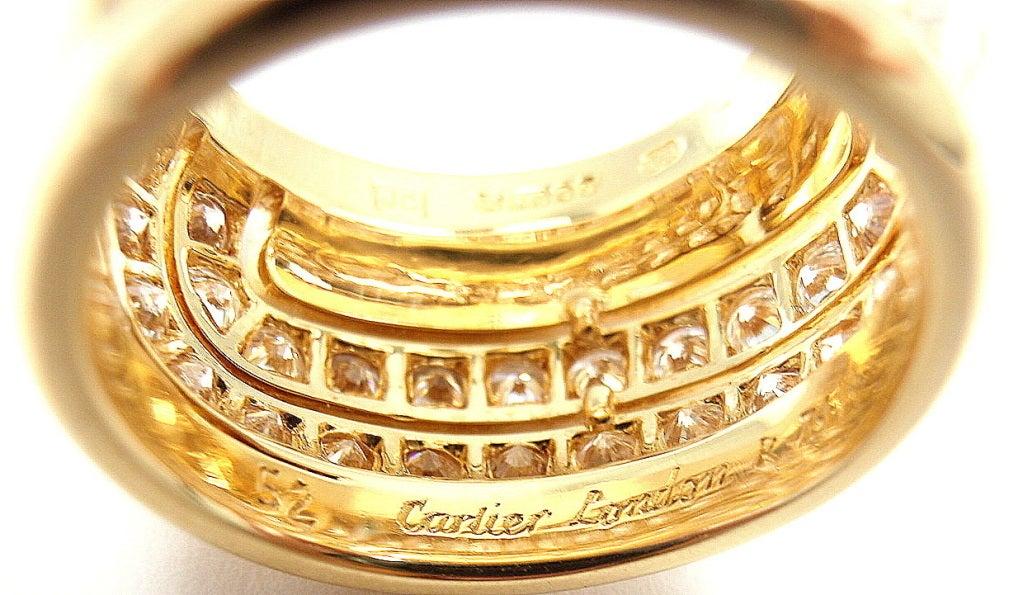 CARTIER  Diamond Yellow Gold Ring 5
