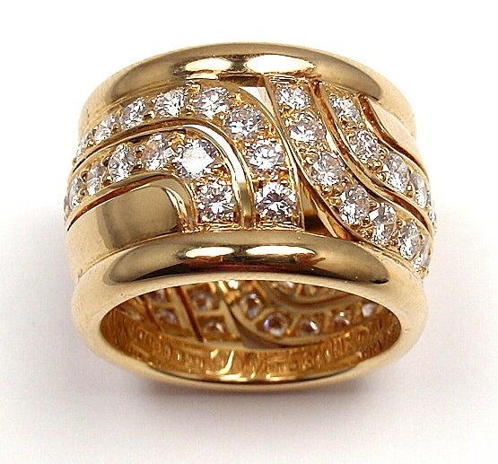 CARTIER  Diamond Yellow Gold Ring 6