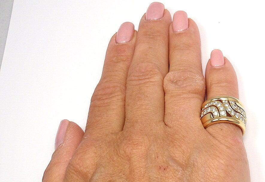 CARTIER  Diamond Yellow Gold Ring 7