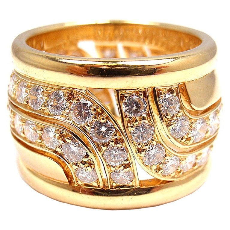 CARTIER  Diamond Yellow Gold Ring 1