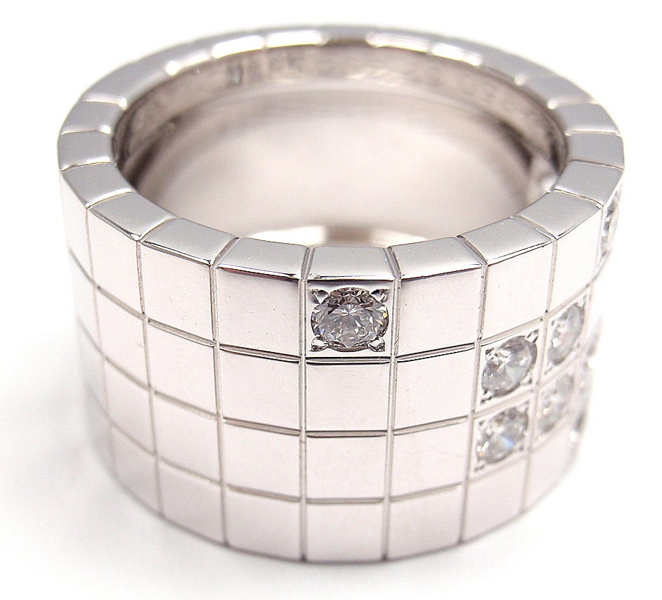 cartier 200 res white gold ring at 1stdibs