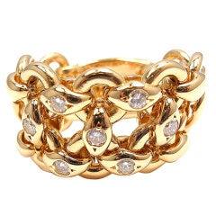 HERMES Diamond Ring in Yellow Gold