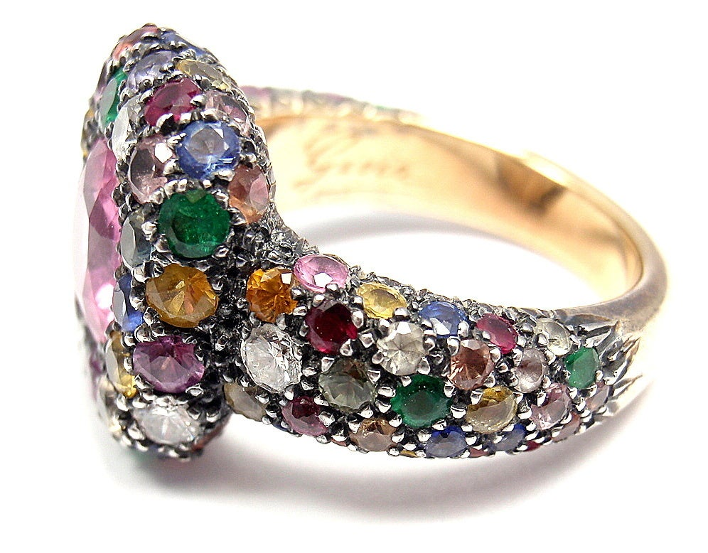 gioia diamond sapphire emerald and ruby yellow gold ring. Black Bedroom Furniture Sets. Home Design Ideas