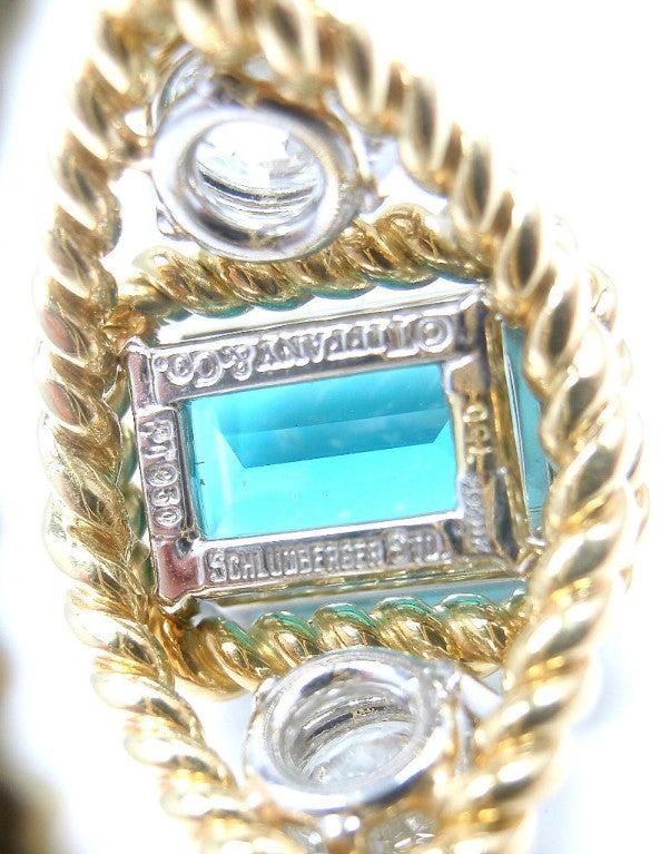 TIFFANY & CO JEAN SCHLUMBERGER Diamond Blue Tourmaline Ring 5