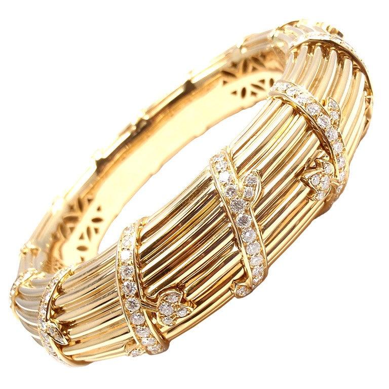 cartier 3ct yellow gold bracelet at 1stdibs