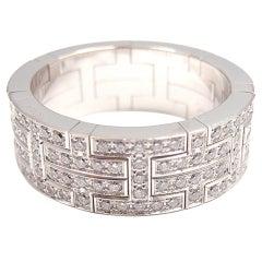 """HERMES """"H"""" Diamond White Gold Ring"""