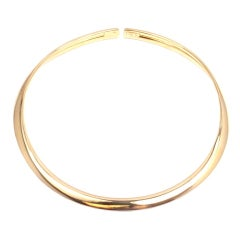 HERMES Flexible Yellow Gold Necklace