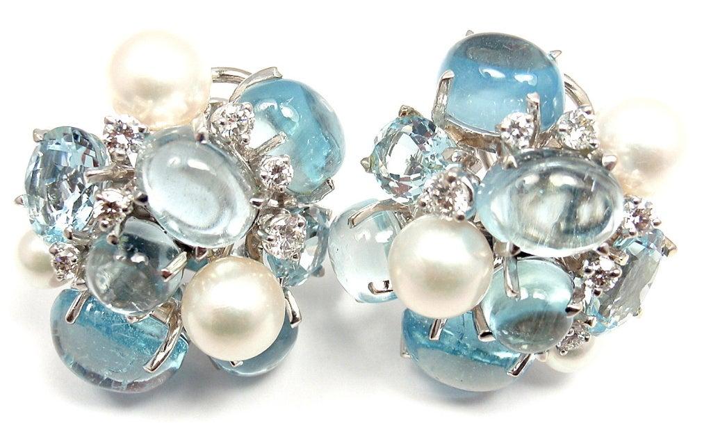 seaman schepps aquamarine and pearl white gold