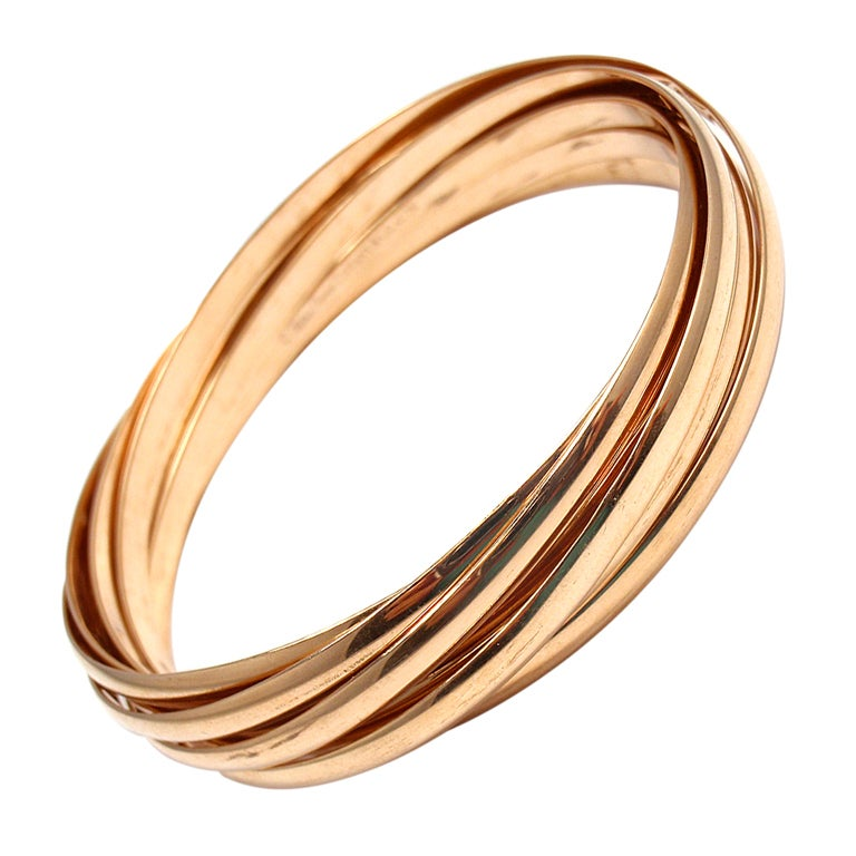 Gold Band Bracelet: TIFFANY And CO. Paloma Picasso Calife 9 Band Rose Gold