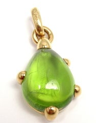 POMELLATO Green Tourmaline Tri-Color Gold Link Necklace thumbnail 3