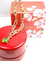 POMELLATO Green Tourmaline Tri-Color Gold Link Necklace thumbnail 5