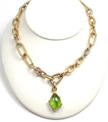 POMELLATO Green Tourmaline Tri-Color Gold Link Necklace thumbnail 6