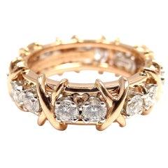 TIFFANY & CO Jean Schlumberger Diamond Platinum Rose Gold Ring