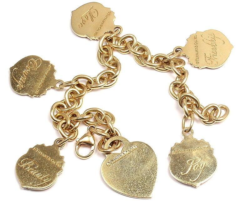 2b115ac48 Diamond Evil Eye Bracelet: Tiffany And Co Gold Charm Bracelet