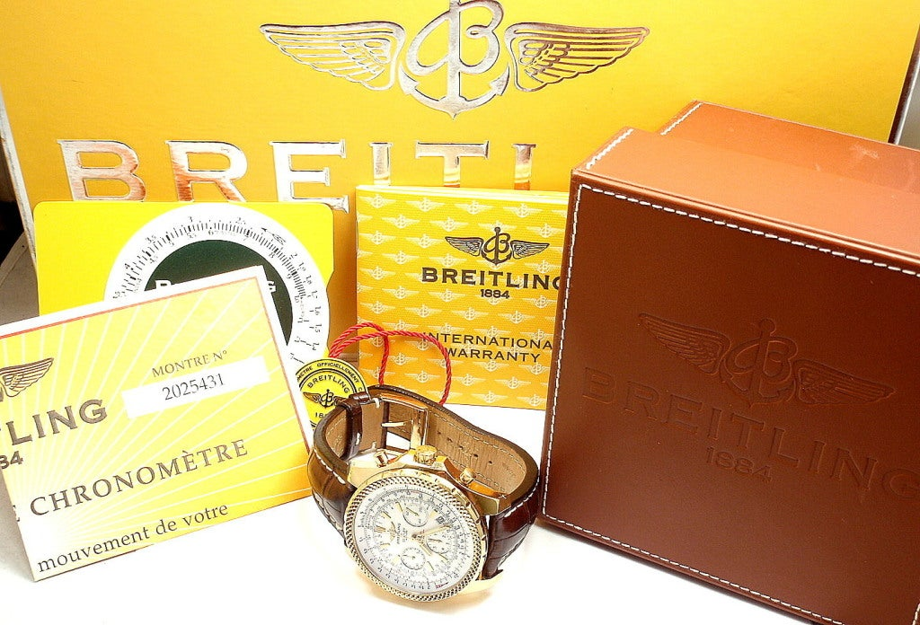 BREITLING Rose Gold Bentley Chronograph Wristwatch image 9