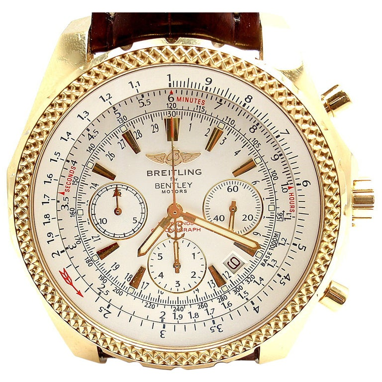 BREITLING Rose Gold Bentley Chronograph Wristwatch