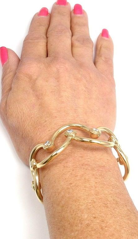 CHANEL Diamond Yellow Gold Cuff Bracelet For Sale 7