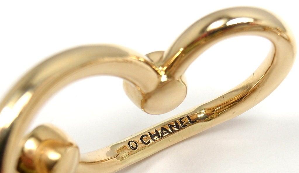 CHANEL Diamond Yellow Gold Cuff Bracelet For Sale 4