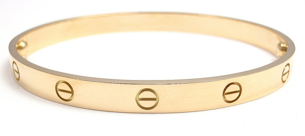 CARTIER Love Yellow Gold Bangle Size 20 image 2