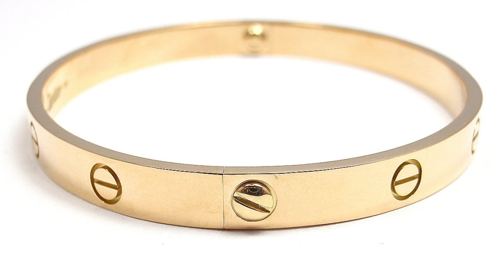 CARTIER Love Yellow Gold Bangle Size 20 image 3