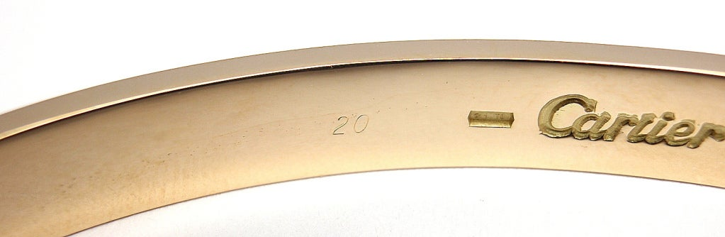 CARTIER Love Yellow Gold Bangle Size 20 image 5