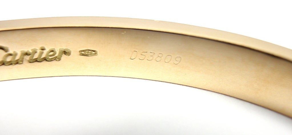 CARTIER Love Yellow Gold Bangle Size 20 image 6