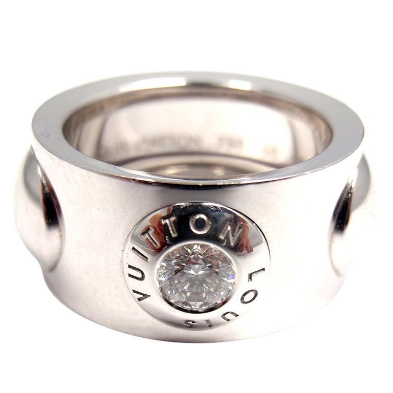 louis vuitton ring. louis vuitton diamond large clous white gold ring 1 louis vuitton n