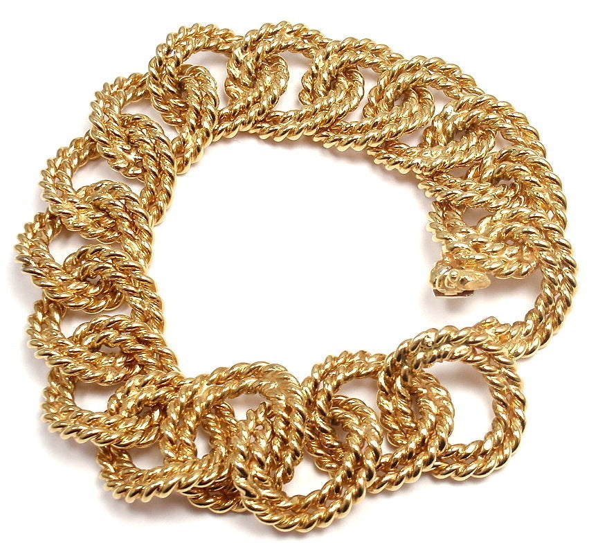 VERDURA Large Nautical Rope Link Yellow Gold Bracelet image 4