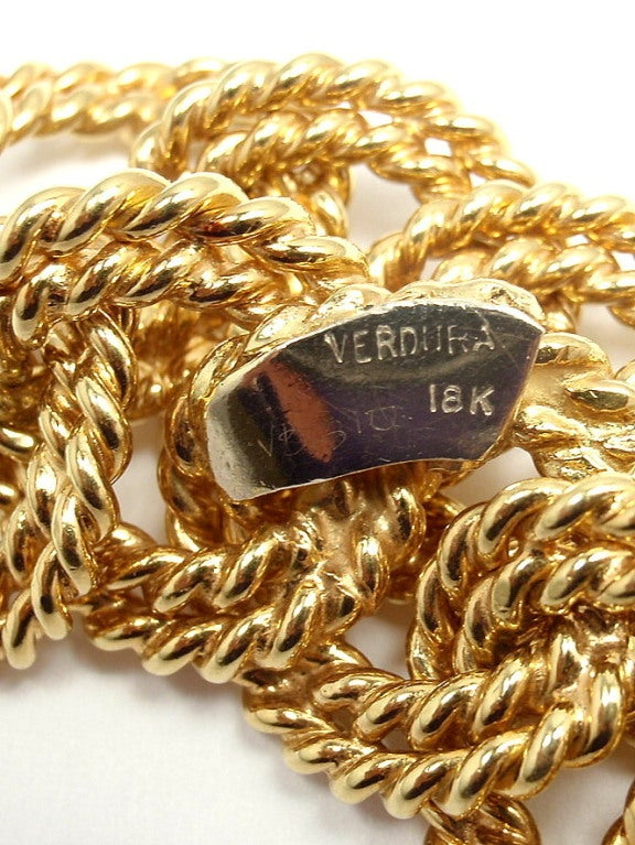 VERDURA Large Nautical Rope Link Yellow Gold Bracelet image 6