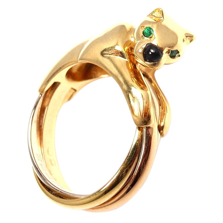 cartier panther gold ring at 1stdibs