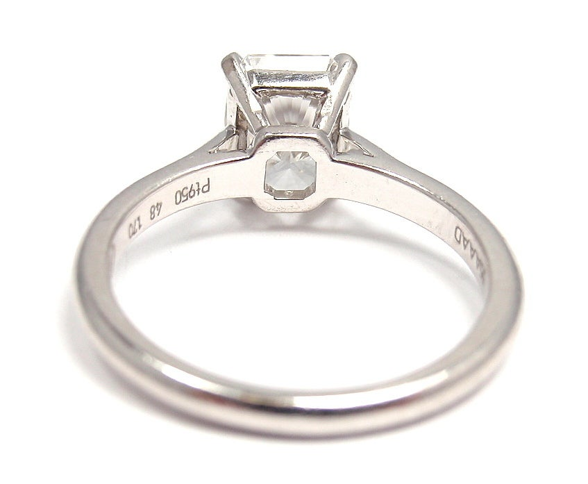 cartier solitaire platinum engagement ring at 1stdibs