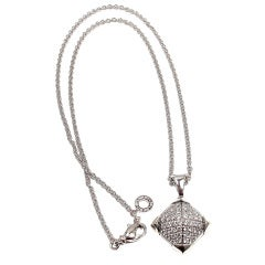 "BULGARI Diamond ""Piramide"" White Gold Necklace"