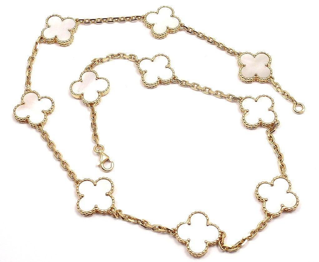 "VAN CLEEF & ARPELS ""Vintage Alhambra"" Yellow Gold Necklace. 10"