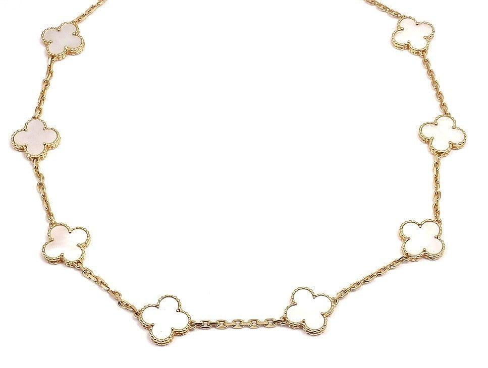 "VAN CLEEF & ARPELS ""Vintage Alhambra"" Yellow Gold Necklace. 2"
