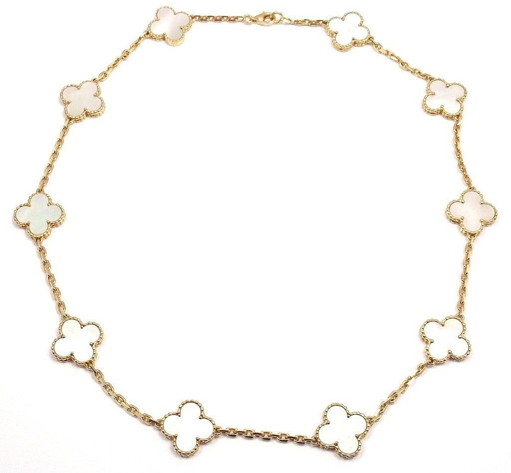 "VAN CLEEF & ARPELS ""Vintage Alhambra"" Yellow Gold Necklace. 3"
