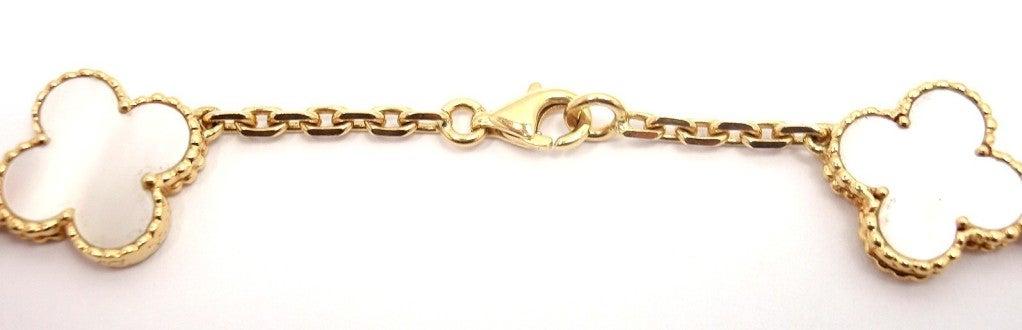"VAN CLEEF & ARPELS ""Vintage Alhambra"" Yellow Gold Necklace. 4"
