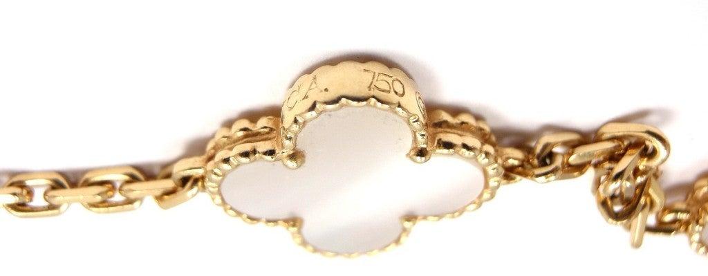 "VAN CLEEF & ARPELS ""Vintage Alhambra"" Yellow Gold Necklace. 5"
