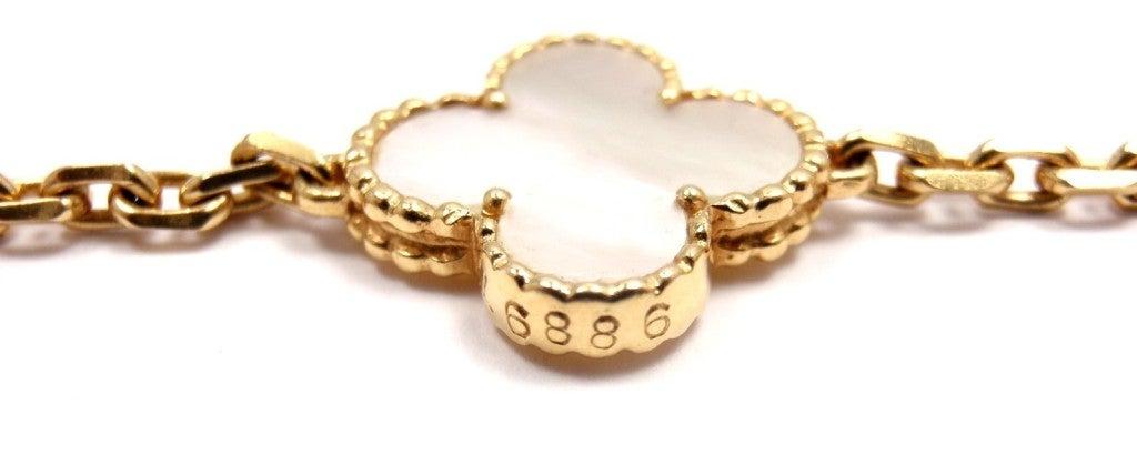 "VAN CLEEF & ARPELS ""Vintage Alhambra"" Yellow Gold Necklace. 7"