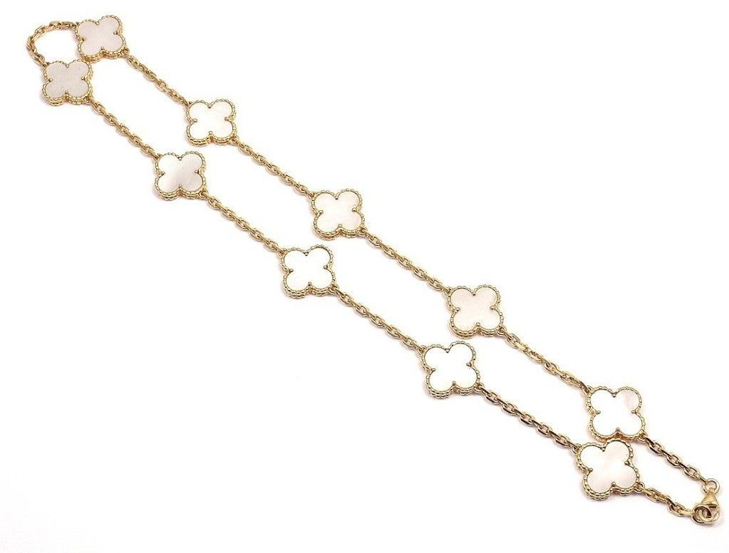 "VAN CLEEF & ARPELS ""Vintage Alhambra"" Yellow Gold Necklace. 8"