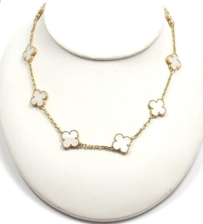 "VAN CLEEF & ARPELS ""Vintage Alhambra"" Yellow Gold Necklace. 9"