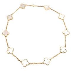 "VAN CLEEF & ARPELS ""Vintage Alhambra"" Yellow Gold Necklace."