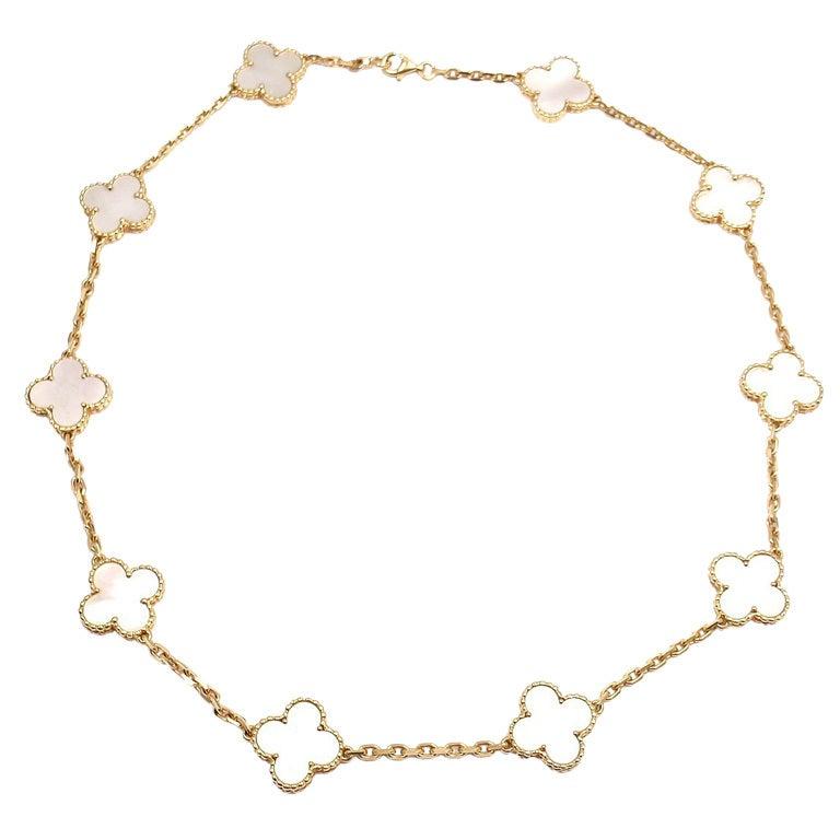 "VAN CLEEF & ARPELS ""Vintage Alhambra"" Yellow Gold Necklace. 1"