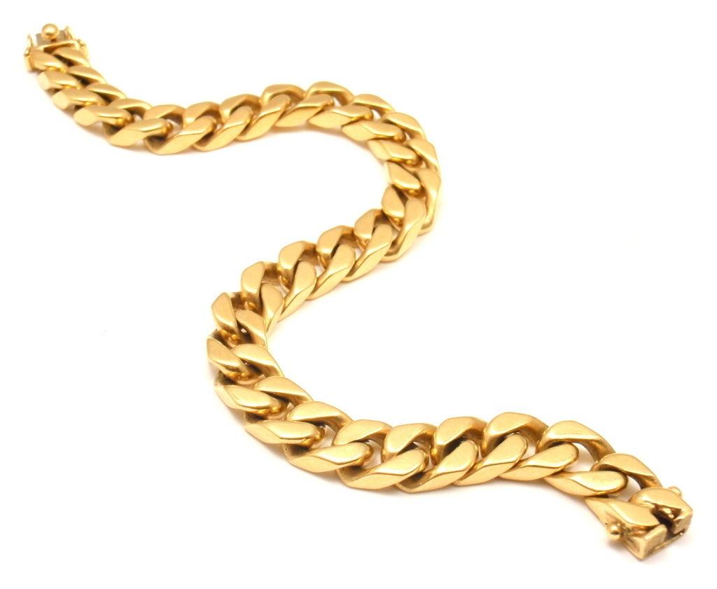 bulgari yellow gold curb chain link bracelet at 1stdibs