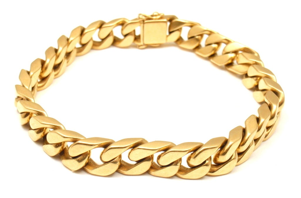 bulgari yellow gold curb chain link bracelet at 1stdibs