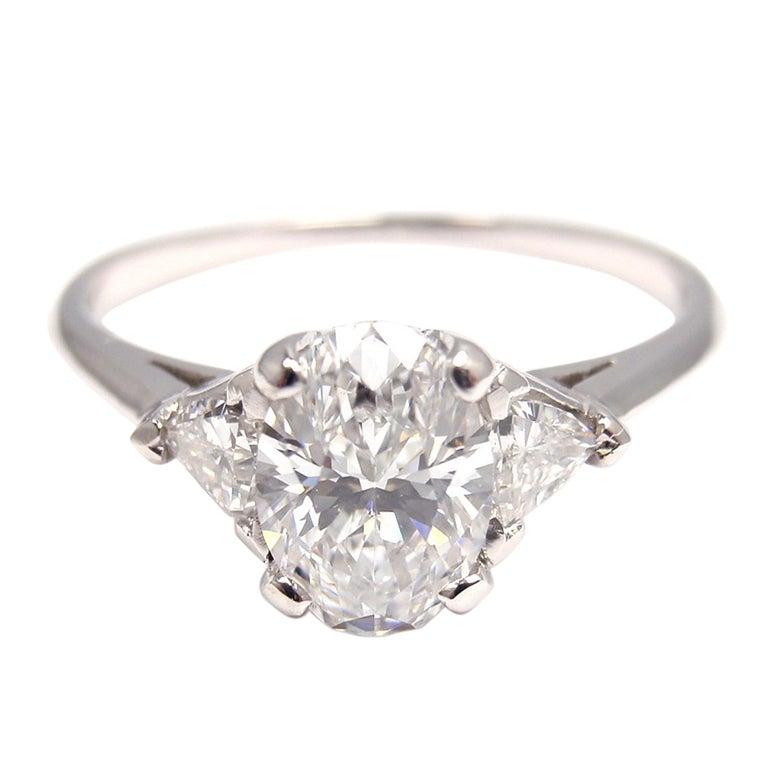Tiffany  Co Diamond Engagement Platinum Ring
